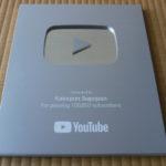 YouTube登録者10万人 銀の盾