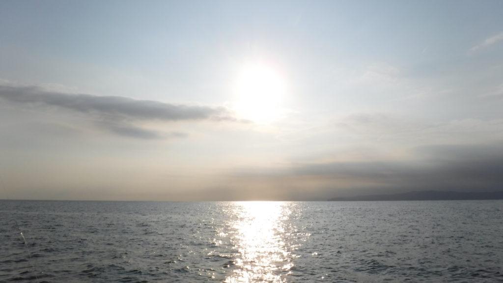 釣り 朝日