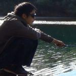 冬の川釣り
